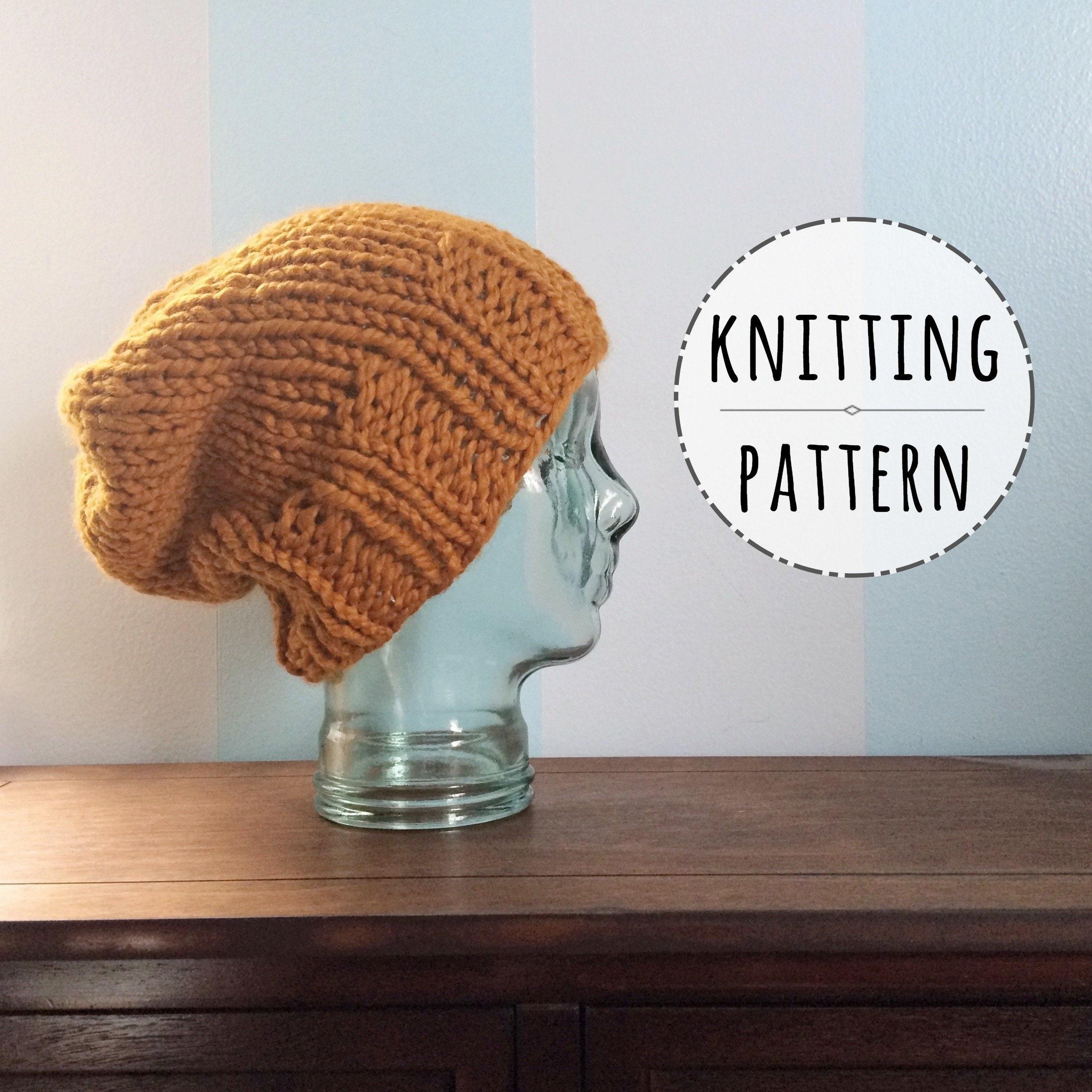 Pattern Knit Chunky Beanie Mika Knitting Etsy