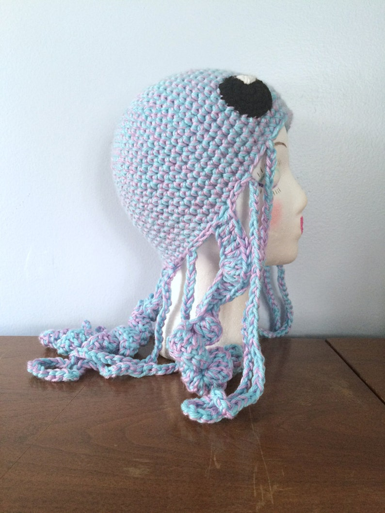 6aaa78877e5fb Crochet Jellyfish Hat Juno Winter Hats Adult