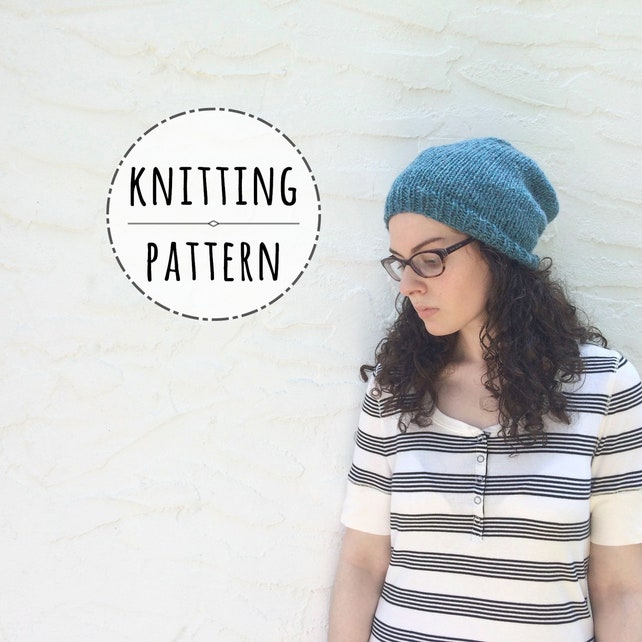 PATTERN Slouchy Beanie Pattern Everett Knitting | Etsy