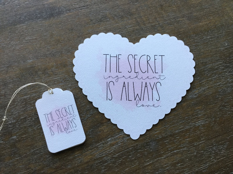 Tag for Bakery Tag for Wedding Shower The Secret Ingredient is Always Love Tag for Wedding The Secret Ingredient is Always Love Tag