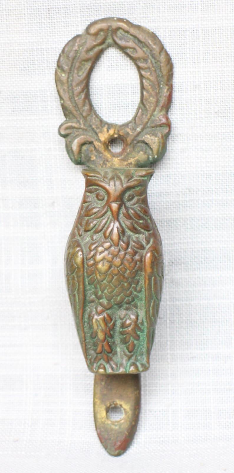 Decorative Bronzed Brass Owl Bird Door Knocker Vintage Brass Owl Door Knocker Vintage Brass Magic Bird Door Knocker