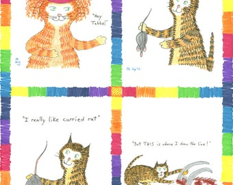 from Book 8 Ginger Nuts Alphabet #Cats Colour Yellow Card