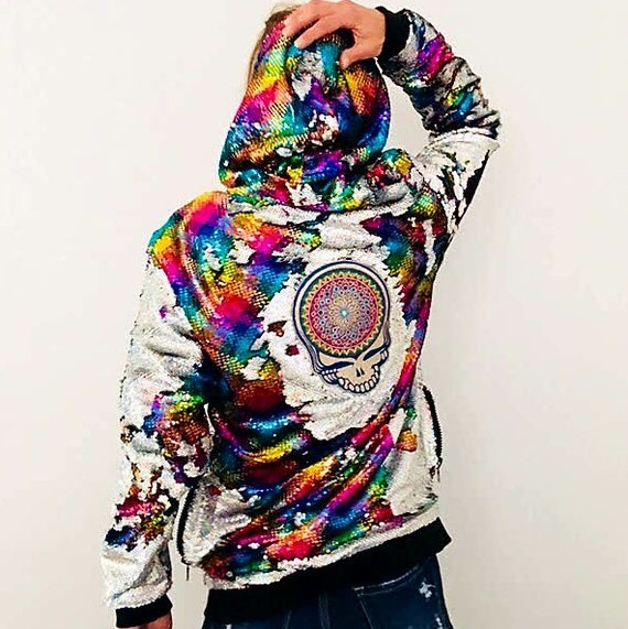 Grateful Dead Hoodie - Steal Your Face - Jam Band Jacket - Deadhead Jacket