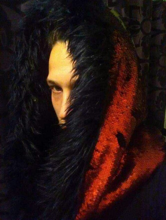 Martian Plume & Deluge with Big Bad Wolf Faux Fur Infinity Scarf Hood
