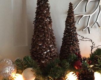 mini christmas tree pine cone christmas tree natural pine christmas table decorative centerpiece mantle decor small christmas tree - Small Decorative Christmas Trees For Mantle