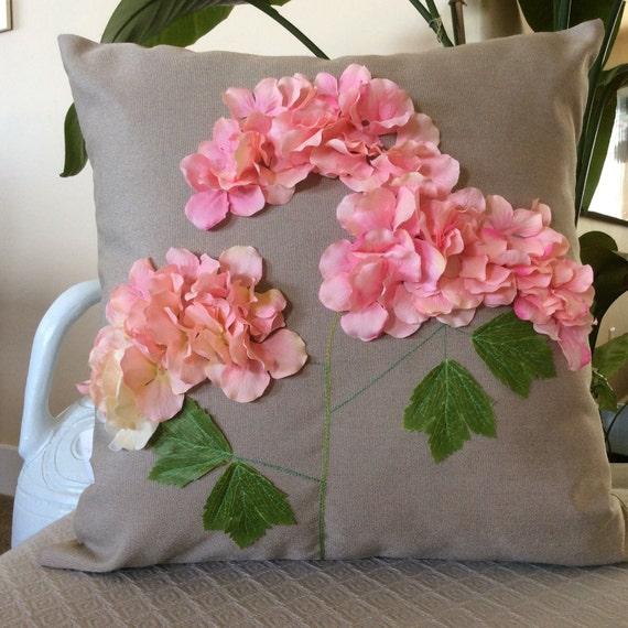 housse de coussin ext rieur p che hortensia fleur de patio. Black Bedroom Furniture Sets. Home Design Ideas