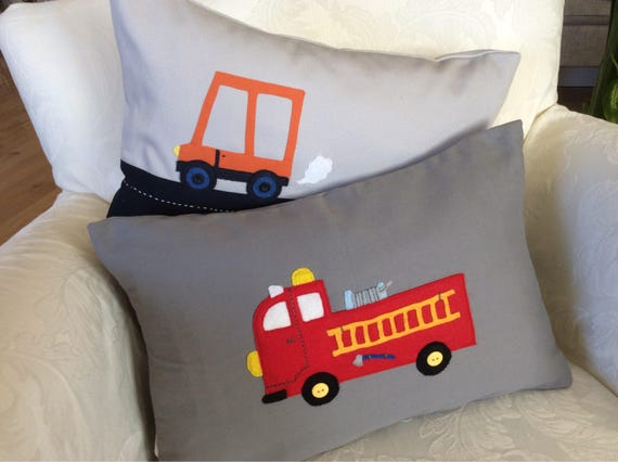 Fire Truck Toddler Pillow Case