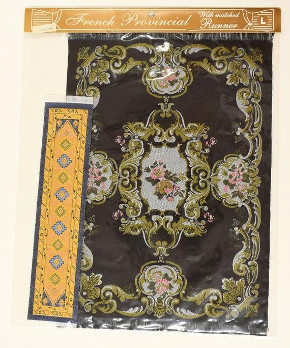 1:12 Scale Woven Turkish Rug Carpet for Doll House Mini Interior Model Decor US