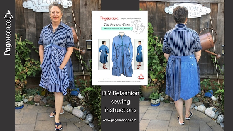PDF Upcycle Sewing instruction booklet  Michelle Dress 3 for image 0