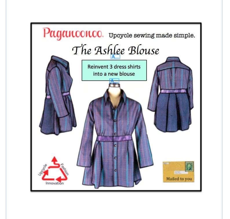 DIY Refashion Sewing Instructions AshleeBlouse  Judy Flower image 0