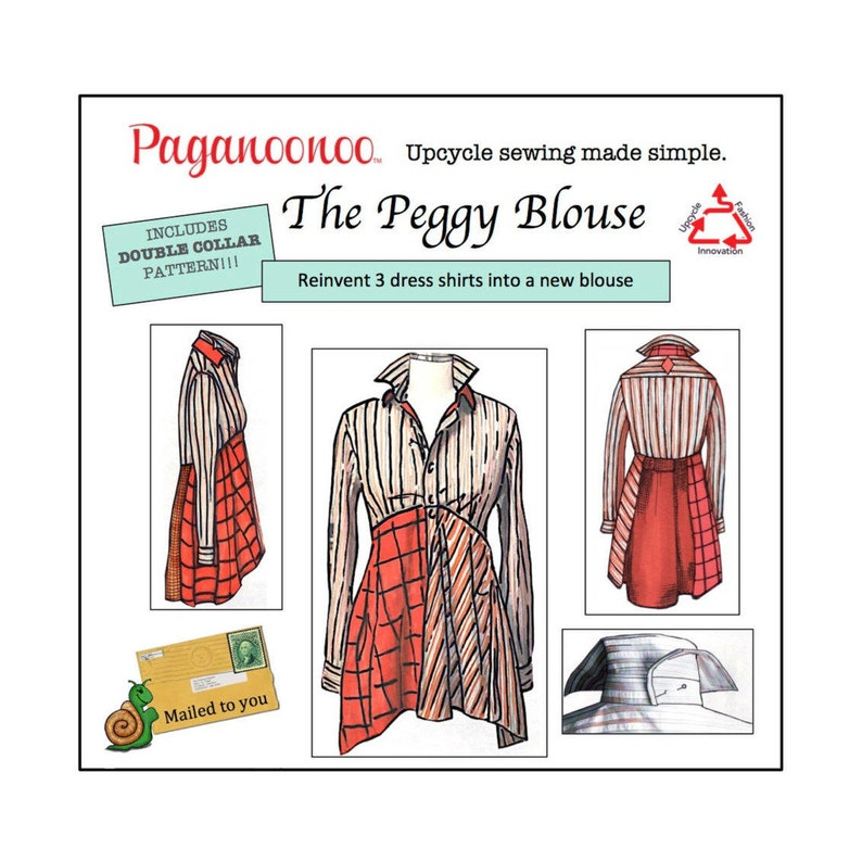 DIY Upcycle sewing instructions for Peggy Blouse with Double image 0