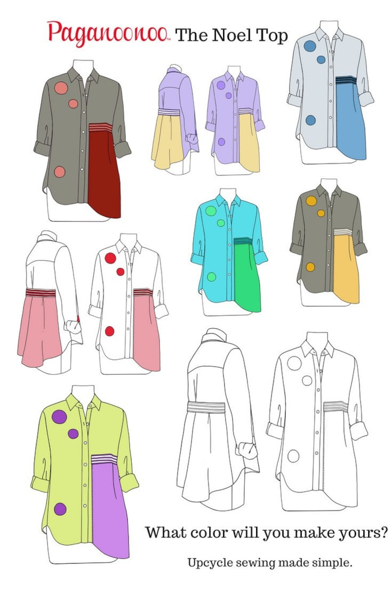 DIY Upcycle sewing instructions for Women's Noel Dress or image 0
