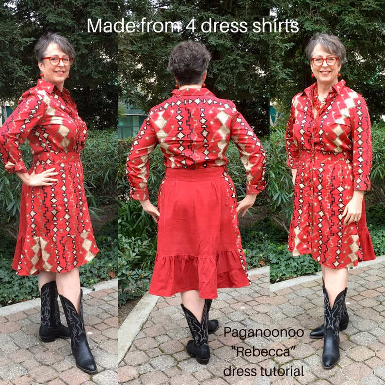 DIY Upcycle sewing instructions for Rebecca Dress with Double image 0
