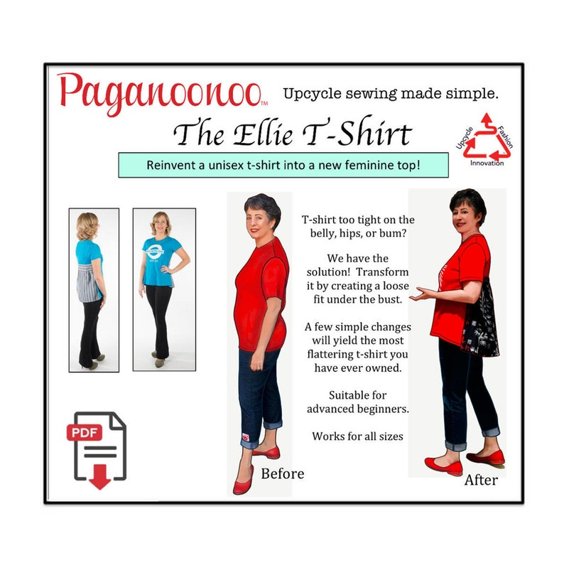 PDF DIY T-shirt Refashion sewing instructions: No more boxy image 1