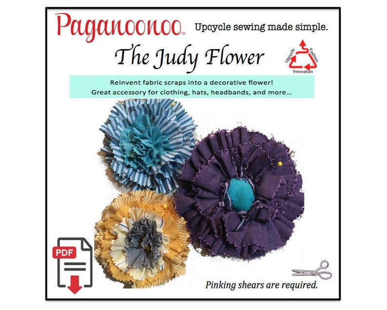 PDF Judy Flower Sewing Pattern recycle fabric scraps into image 0