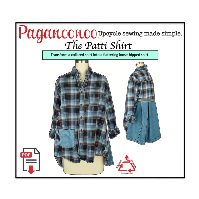PDF upcycle sewing instructions for Patti Blouse & Judy image 0