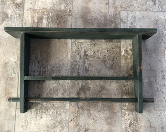 Rustic Country Wood /& Metal 3 tier Wall Shelf Farmhouse Primitive Hanging
