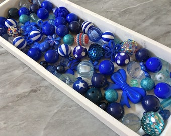 sale clearance beads turquoise bangle making beads WHOLESALE Blue White Bead Soup Mix bubblegum round crystals jewelry creation