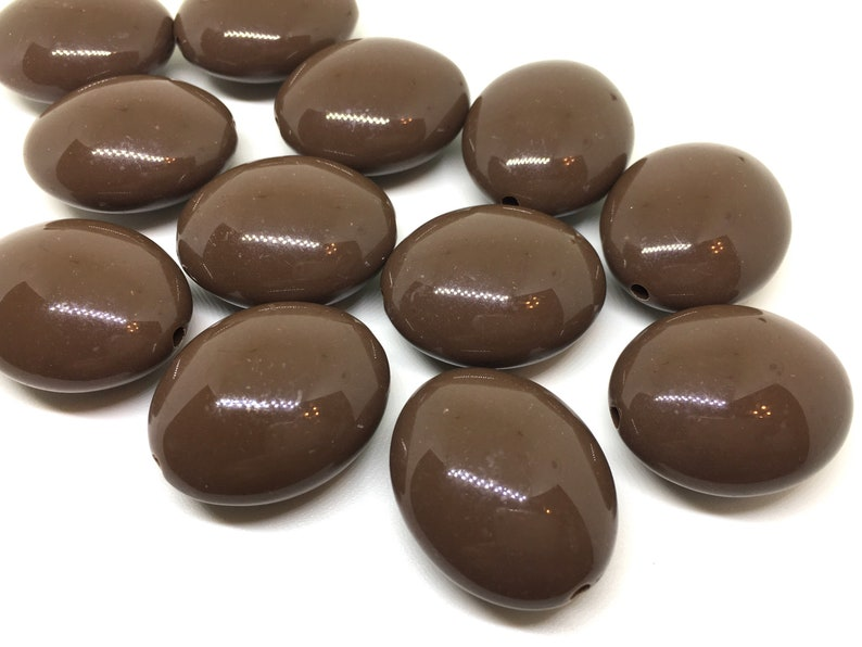 oval beads chunky statement necklace jewelry making wire bangle Chocolate Brown 31mm acrylic beads large acrylic bead QUEEN Collection