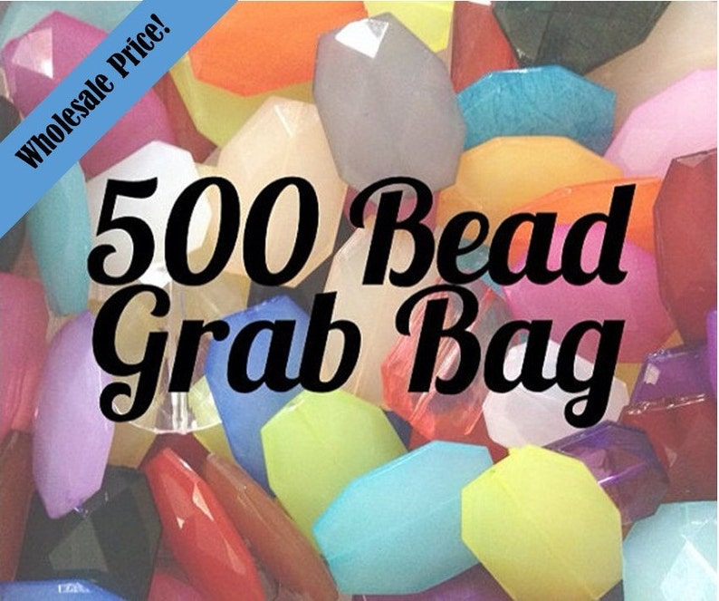 Nugget Bead for bangles Large Faceted Slab Beads Flat Rate Shipping 30 Color Choices Bead Grab Bag