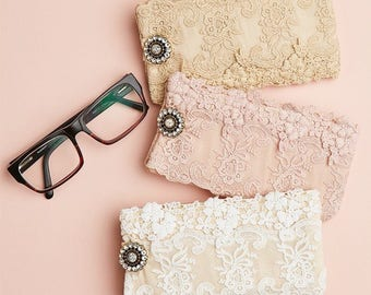 1d81aeddba98 lace glasses cases. lace glasses pouch. french vintage lace glasses case.  lace glasses case by Miss Rose Sister Violet.