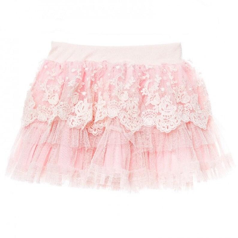 f2979a38d392 Tinkerbelle tutu. lace tutu. Girls lace skirt. flower girl.