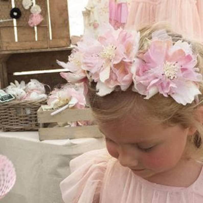 Millinery flower Vintage flower Millinery supplies velvet flower Velvet briar rose Flower crown