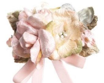 velvet flower brooch. velvet posy brooch. Vintage millinery . Millinery velvet . Missrosesisterviolet.