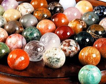 "Set of ""Solitaire"" padauk 210 mm • 37 stones beads semi-precious • sale humanitarian Haiti"
