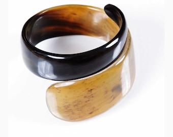 Design • White Buffalo Horn Bangle Bracelet. Haiti Design Creation of Art for Haiti charity & supportive sale • •