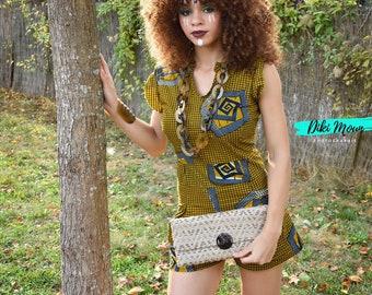 Shoulder bag beige natural fiber and Horn from Buffalo Fabrication Artisanale Collection Elegance •Vente humanitarian • • •