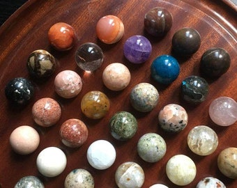 Mineral stone individually • natural semi precious stones from 10 to 15 mm per bead • • solitaire game unit price