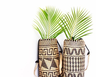 Woven Borneo Tribal Basket bag • ANJAT supportive tisse• Fabrication Artisanale • Collection BohoChic •Vente rattan backpack