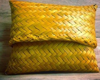 """Multicolored """"Bag Macoute"""" raffia purse"""