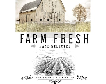 Farm Fresh, Rub on Transfer, Redesign Transfers, Free USA shipping