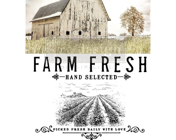 Farm Fresh, Rub on Transfer, Redesign Transfers, Free USA shipping