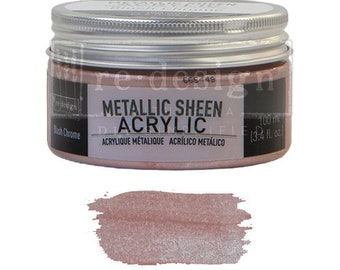 Metallic Sheen Blush Chrome from Prima Redesign, metallic paint for  stencils, furniture, painting, mixed media, and paper. free shipping