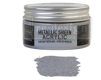 Metallic Sheen FLUID MERCURY from Prima Redesign, metallic paint for  stencils, furniture, painting, mixed media, and paper. free shipping