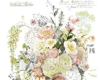 LIFE in FULL BLOOM Rub on Decor Transfer from Redesign with Prima. Free shipping