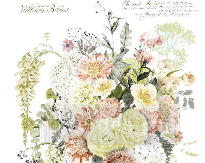 Life in Full Bloom, Flower, Wedding Transfer,  Rub on Decor Transfer, Bird Transfer, Prima Transfers, Redesign Transfer, Free shipping