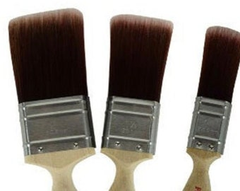 Flat Brushes from Dixie Belle, Paint Brush,  Silk Paint brush, Synthetic Premium Brush, Paint Gift, Craft supply  FREE SHIPPING