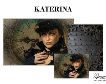 KATERINA Decoupage Pack, 3 sheets , Free Shipping