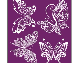 BUTTERFLY Collection: All 3 designs in a reusable stencils, New Dixie Belle Silk Screened Stencils,  free shipping