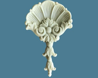 D9 Neo Classical Shell Bellflower Drop , EFEX ,Replacement Moulding, Historic Moulding, Silicone Moulding, Embellishment  , FREE SHIPPING