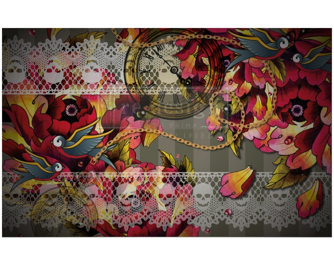 """CECE INK & LACE Prima Decoupage Mulberry Tissue Paper,  Free Shipping  19"""" x 30"""" Re-Design with Prima"""