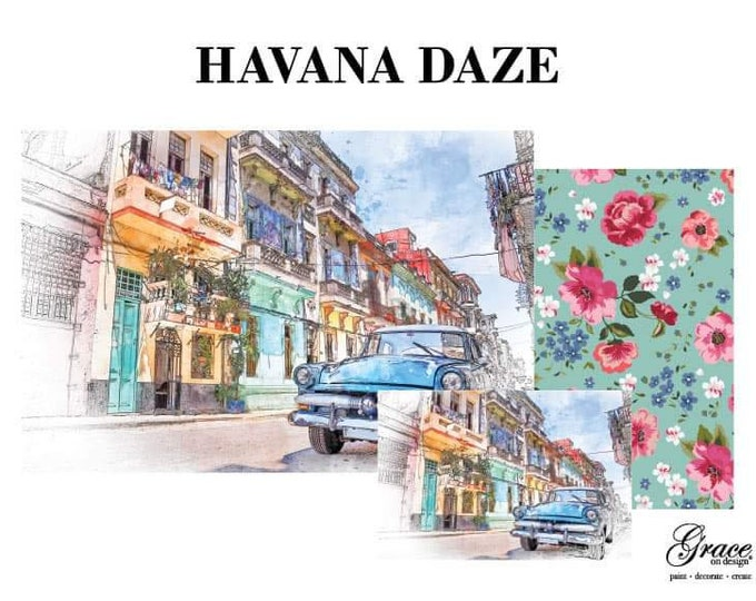 Pre Order  HAVANA Grace on Design Decoupage Pack, 3 sheets , Free Shipping Made in the USA