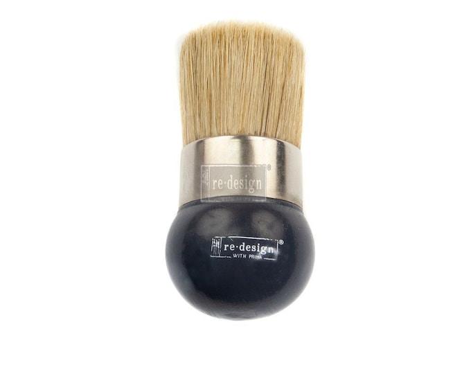 2 inch STENCIL Brush , hog bristle, wax brush, paint brush, natural brush, round brush , free shipping
