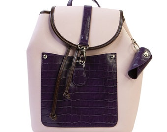 Leather Back Pack Purse from Prima ReDesign WITH FREE SHIPPING, Decorate your Purse, Transfers