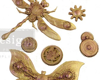 Mechanical Insecta Mold,  FREE SHIPPING Redesign with Prima Decor , Steampunk , 5 x 8 Silicone Mold