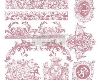 "CHATEAU DE SAVERNE Clearly Aligned Decor Stamp, Prima Redesign Stamp, Free Shipping, 12""x12"""